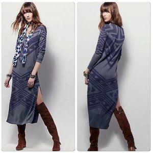 Free People Bauhaus Maxi Sweater Dress Size XS EUC